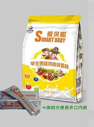 胜博发266手机平台学生果味钙铁锌奶粉