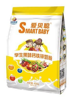 胜博发266手机平台学生果味钙铁锌奶粉400g袋