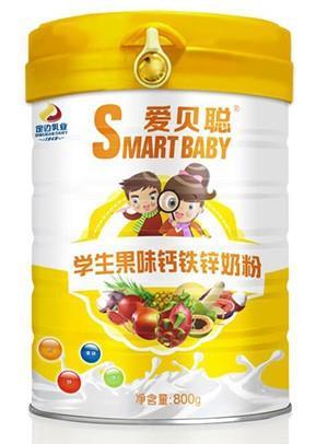 胜博发266手机平台学生果味钙铁锌奶粉800g罐