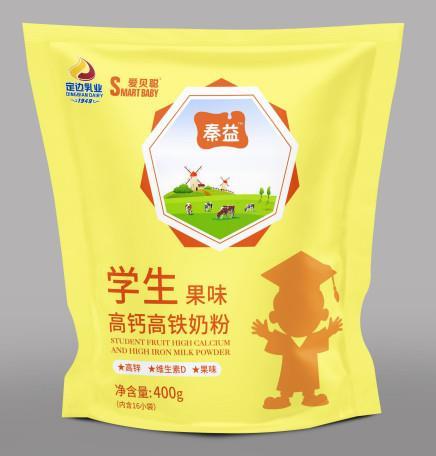 秦益胜博发266手机平台学生果味高钙高铁奶粉  400克袋
